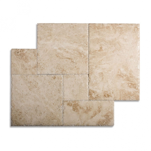 French Pattern-cappuccino-brushed-chiseled-tiles