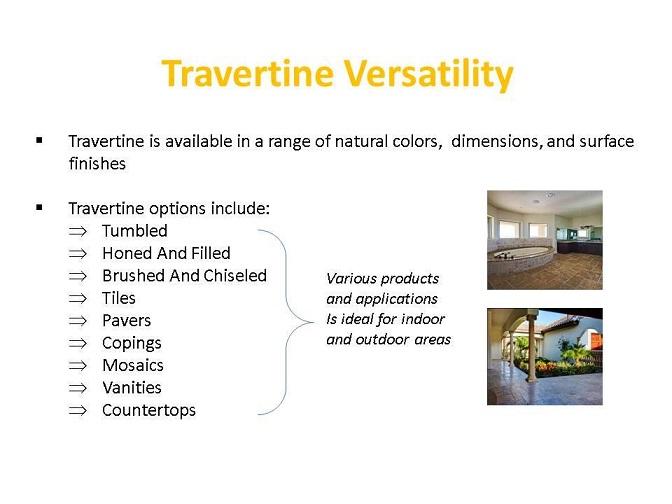 Travertine Versatility